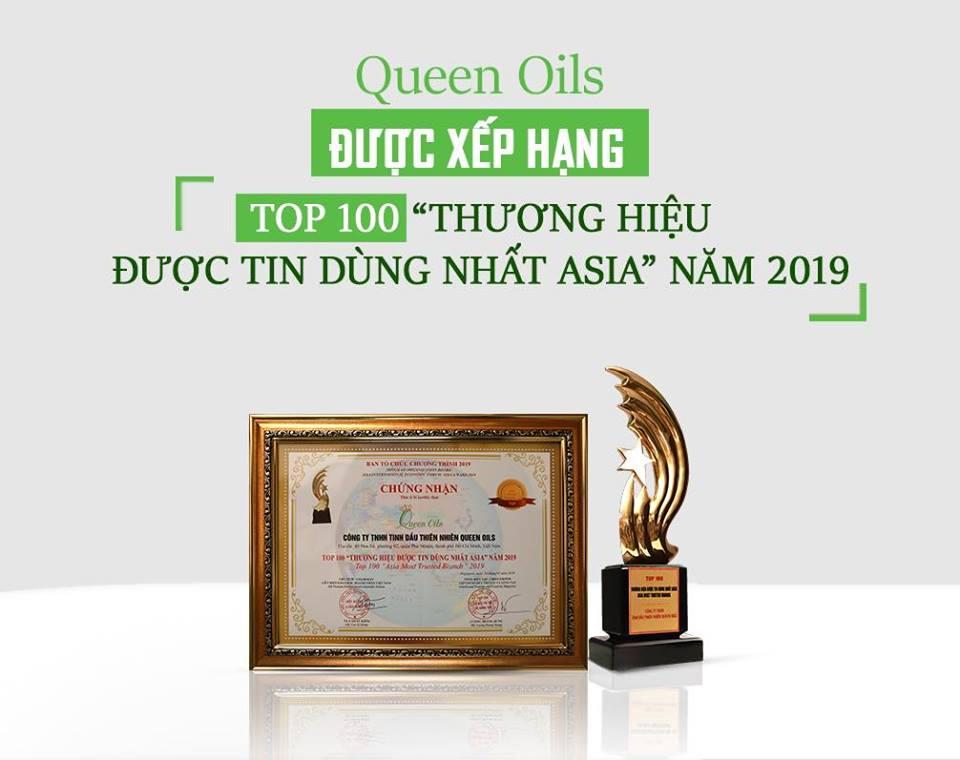 """QUEEN OILS ĐƯỢC XẾP HẠNG TOP 100 """"THƯƠNG HIỆU ĐƯỢC TIN DÙNG NHẤT ASIA"""" NĂM 2019"""