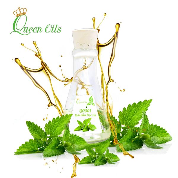 Kết quả hình ảnh cho tinh dầu bạc hà queen oils