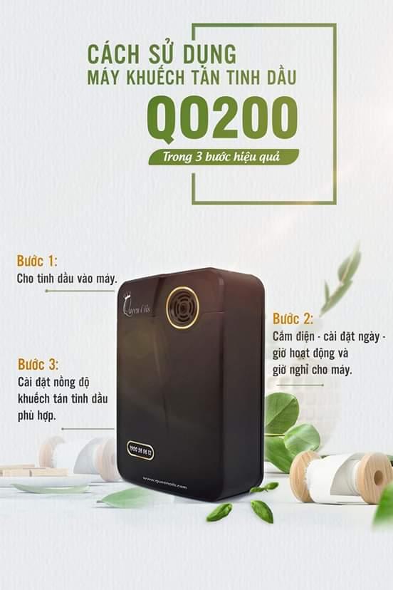 Cách sử dụng máy khuếch tán tinh dầu QO200 trong 3 bước hiệu quả